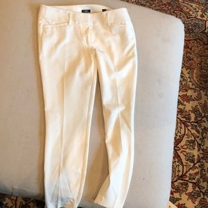 White ankle dress pants